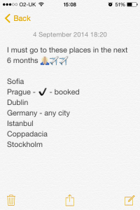 My places to visit bucket list for 2014